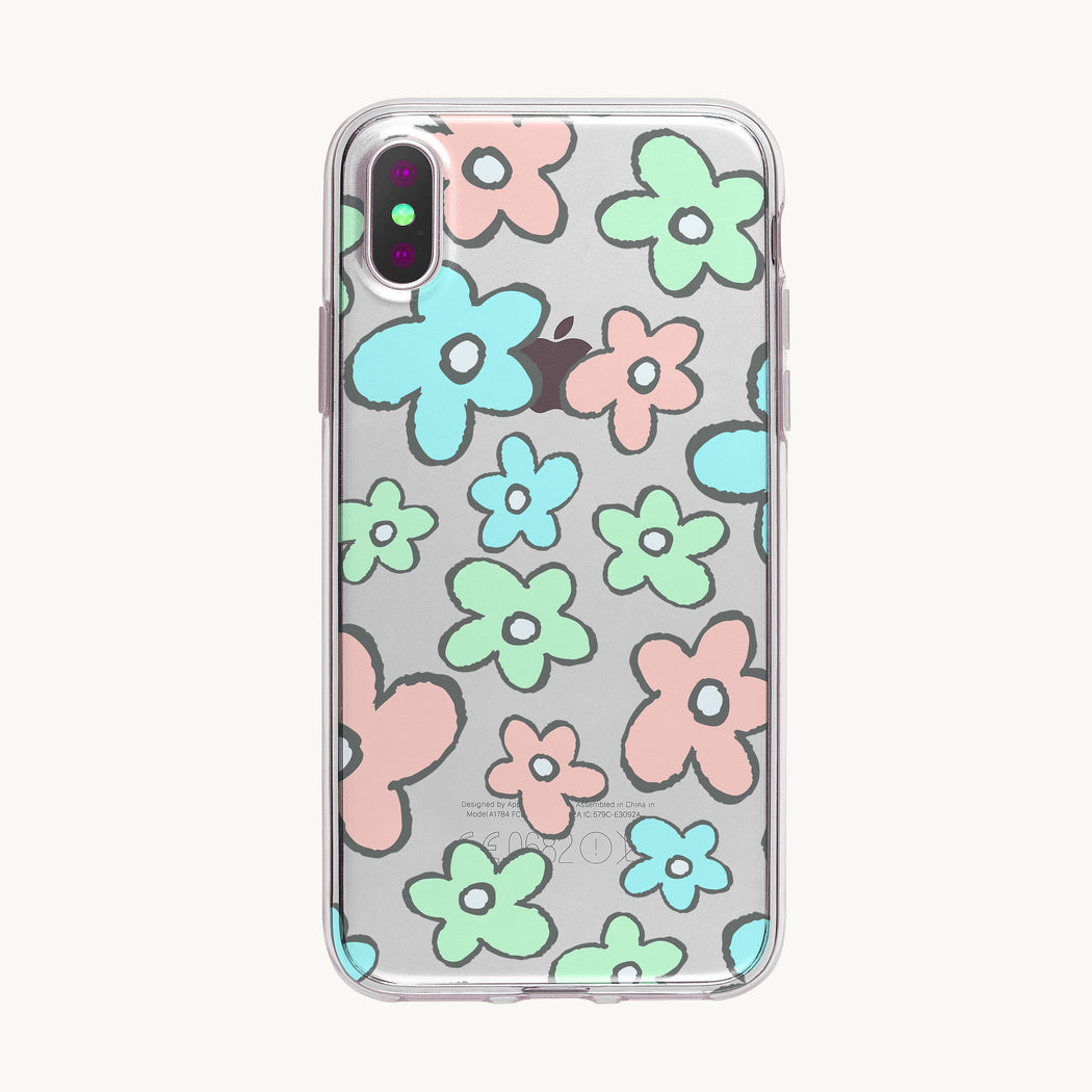 Retro Flower Pattern iPhone Case from Tiny Quail