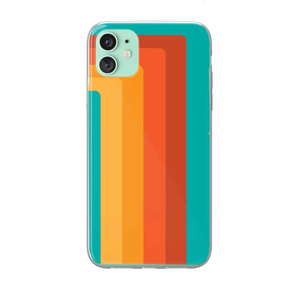 Retro 70's Striped iPhone Case by Tiny Quail
