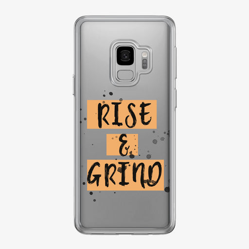Rise and Grind Clear Samsung Galaxy Fitness Phone Case by Tiny Quail