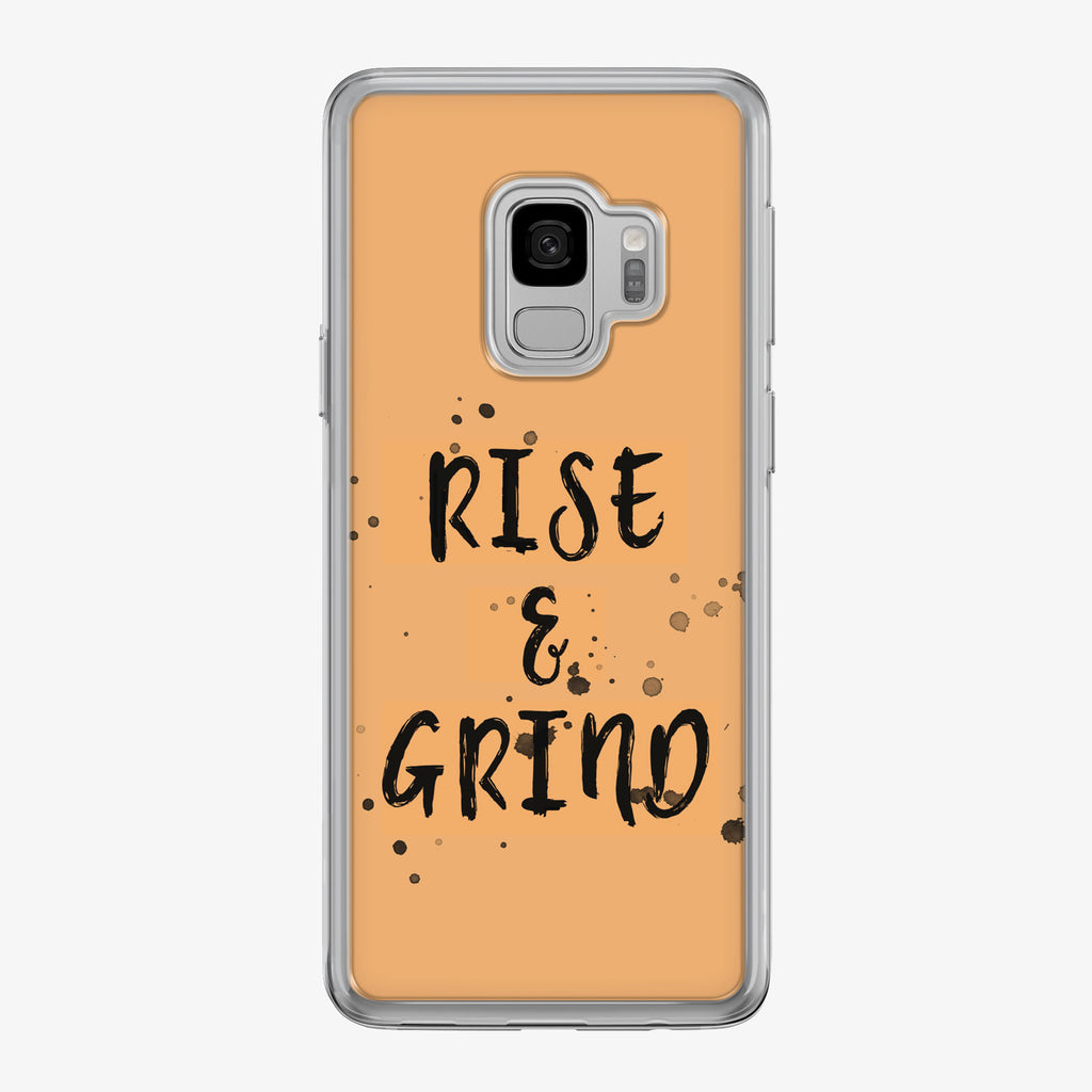 Rise and Grind Samsung Galaxy Fitness Phone Case by Tiny Quail