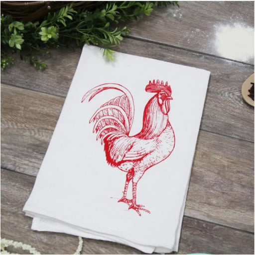 Rooster Kitchen Towel Red From The Coin Laundry