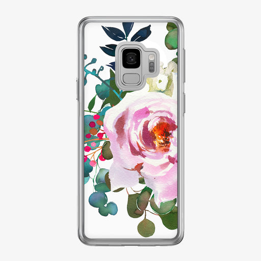 Large Pink Rose Samsung Galaxy Phone Case from Tiny Quail
