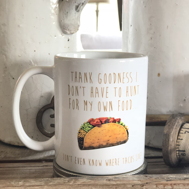 Thank Goodness Funny Coffee Mug Ceramic From Festoon Lettering