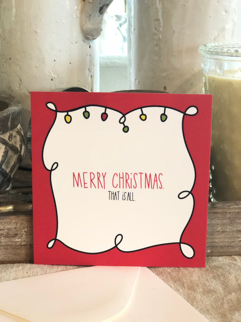 Merry Christmas Card From Festoon Lettering