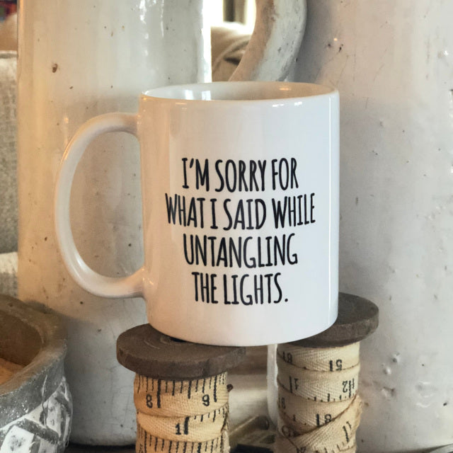 Sorry Lights Christmas Mug From Festoon Lettering