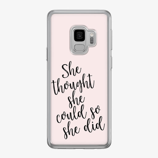 She Thought She Could Samsung Galaxy Fitness Phone Case by Tiny Quail