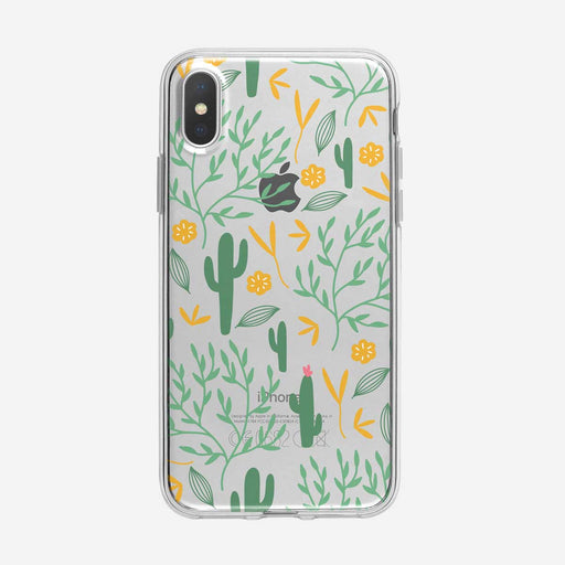 Simple Cactus Pattern Clear iPhone Case from Tiny Quail