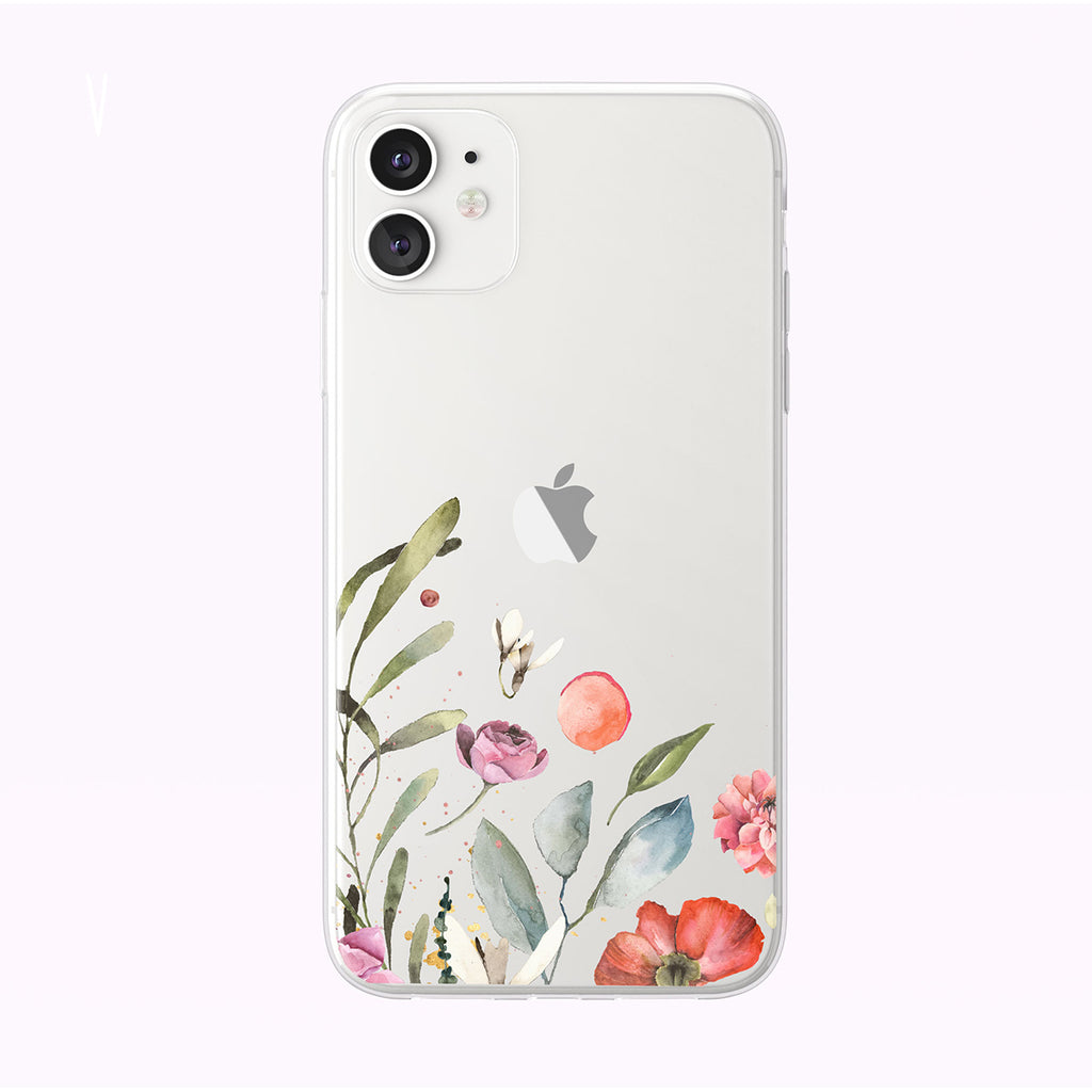 Simply Pretty Floral Clear iPhone Case from Tiny Quail