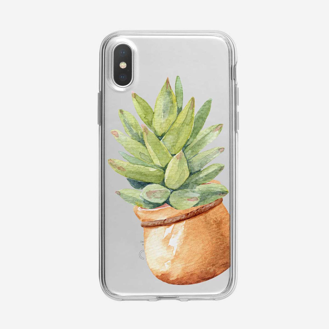 Cute Potted Cactus Clear iPhone Case from Tiny Quail