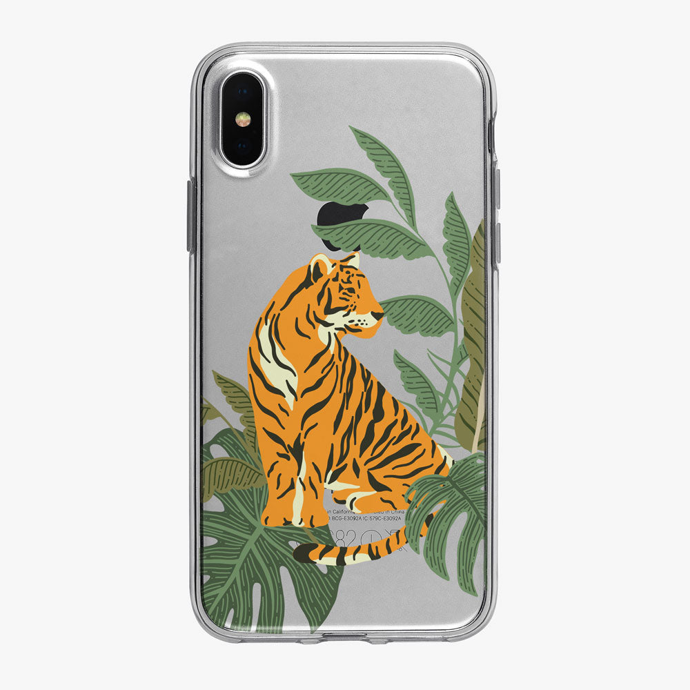 Solitary Jungle Tiger Clear iPhone Case from Tiny Quail