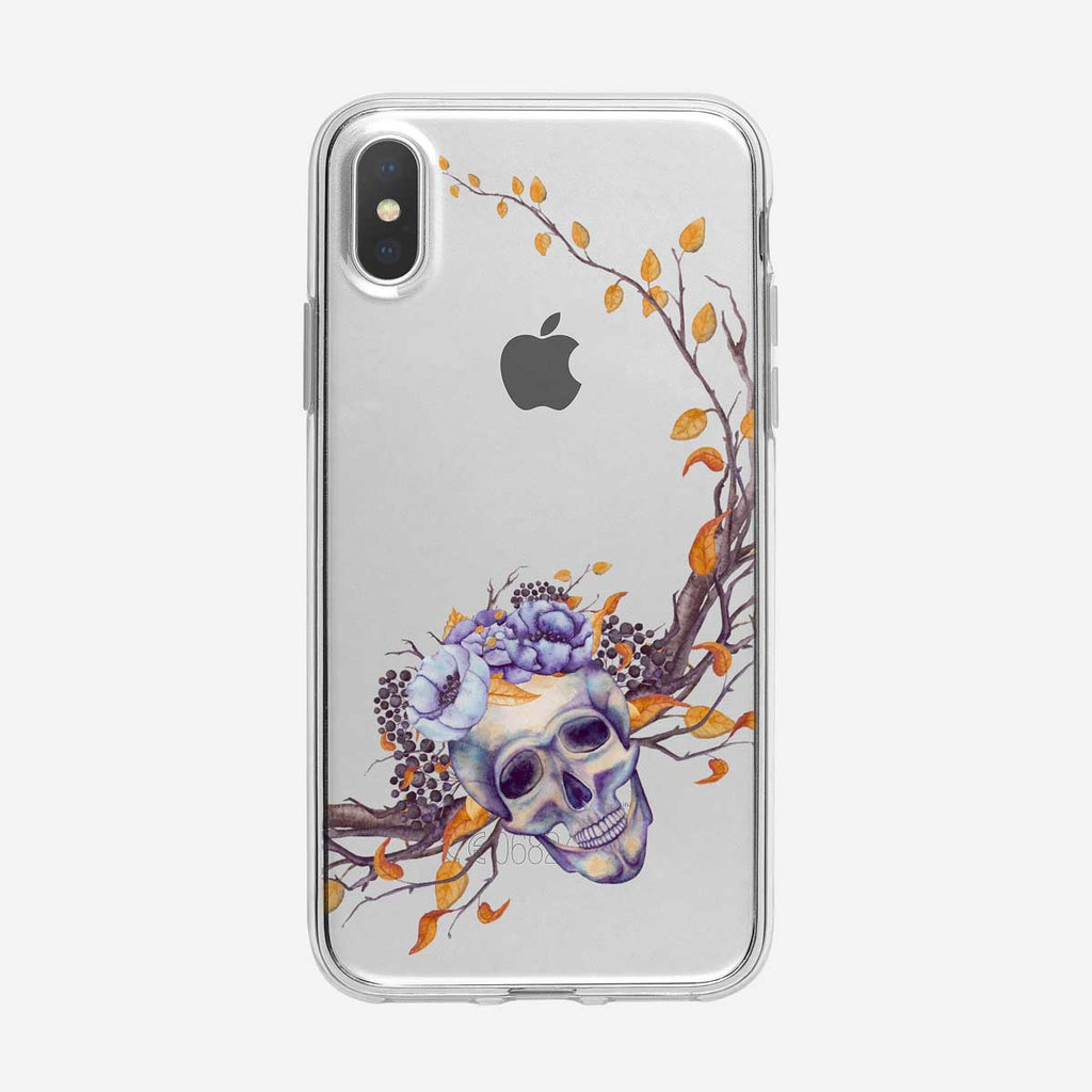 Branches and Skull Pattern iPhone Case From Tiny Quail