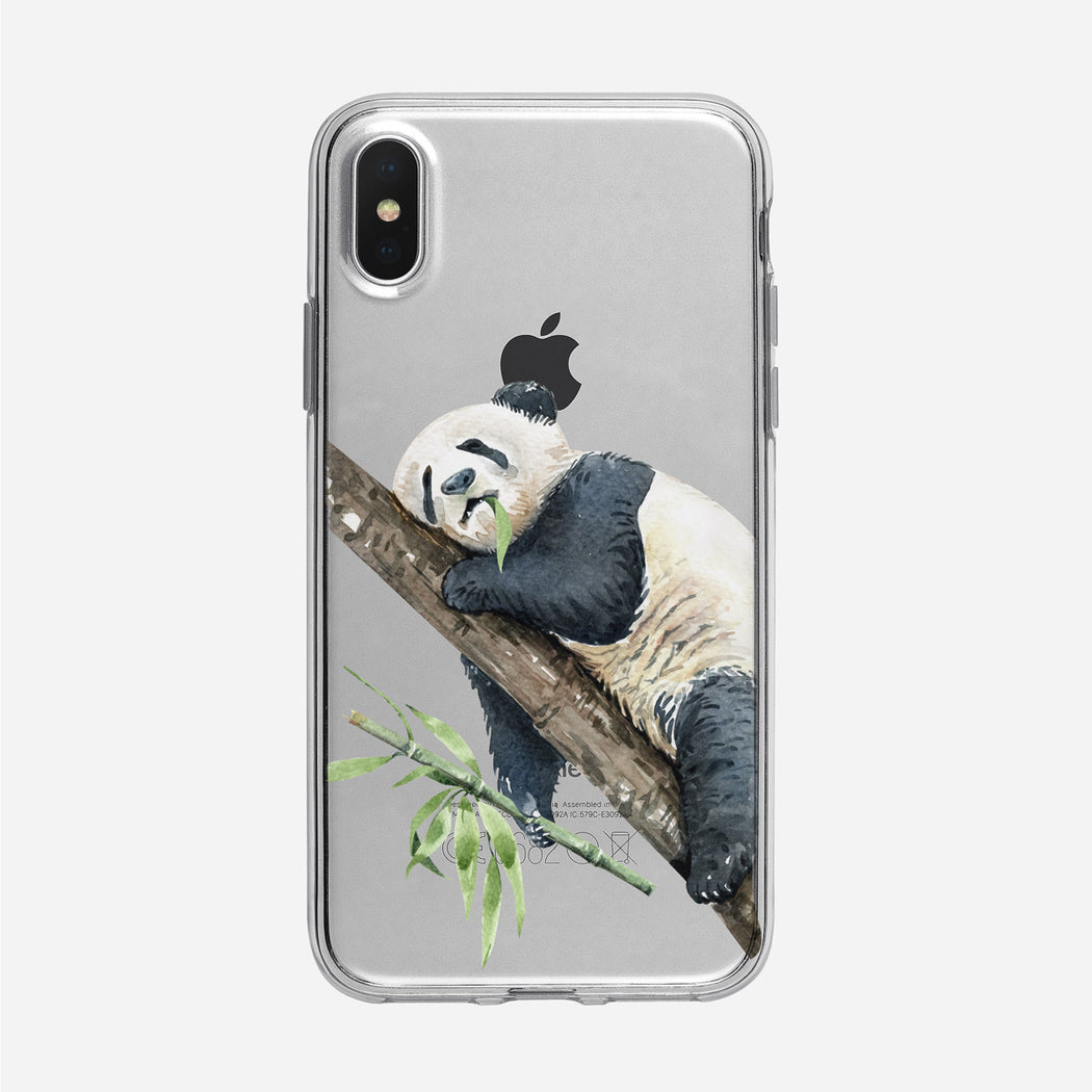 Sleeping Adorable Panda iPhone Case from Tiny Quail