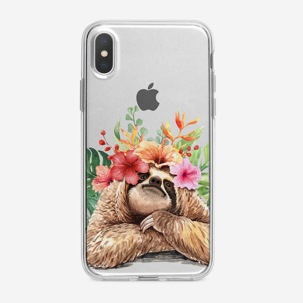 Dreamy Tropical Sloth  iPhone Case From Tiny Quail