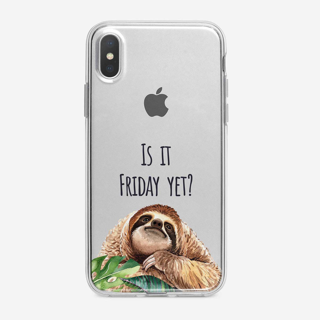 Is it Friday Sloth iPhone Case by Tiny Quail