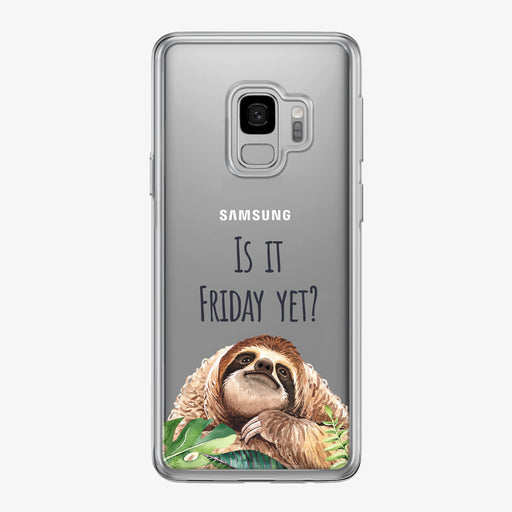 Is It Friday Sloth Samsung Galaxy Phone Case by Tiny Quail