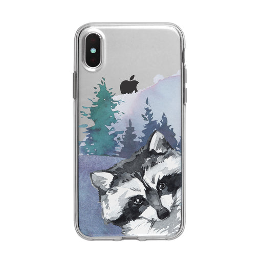 Sneaky Forest Raccoon iPhone Clear Case from Tiny Quail