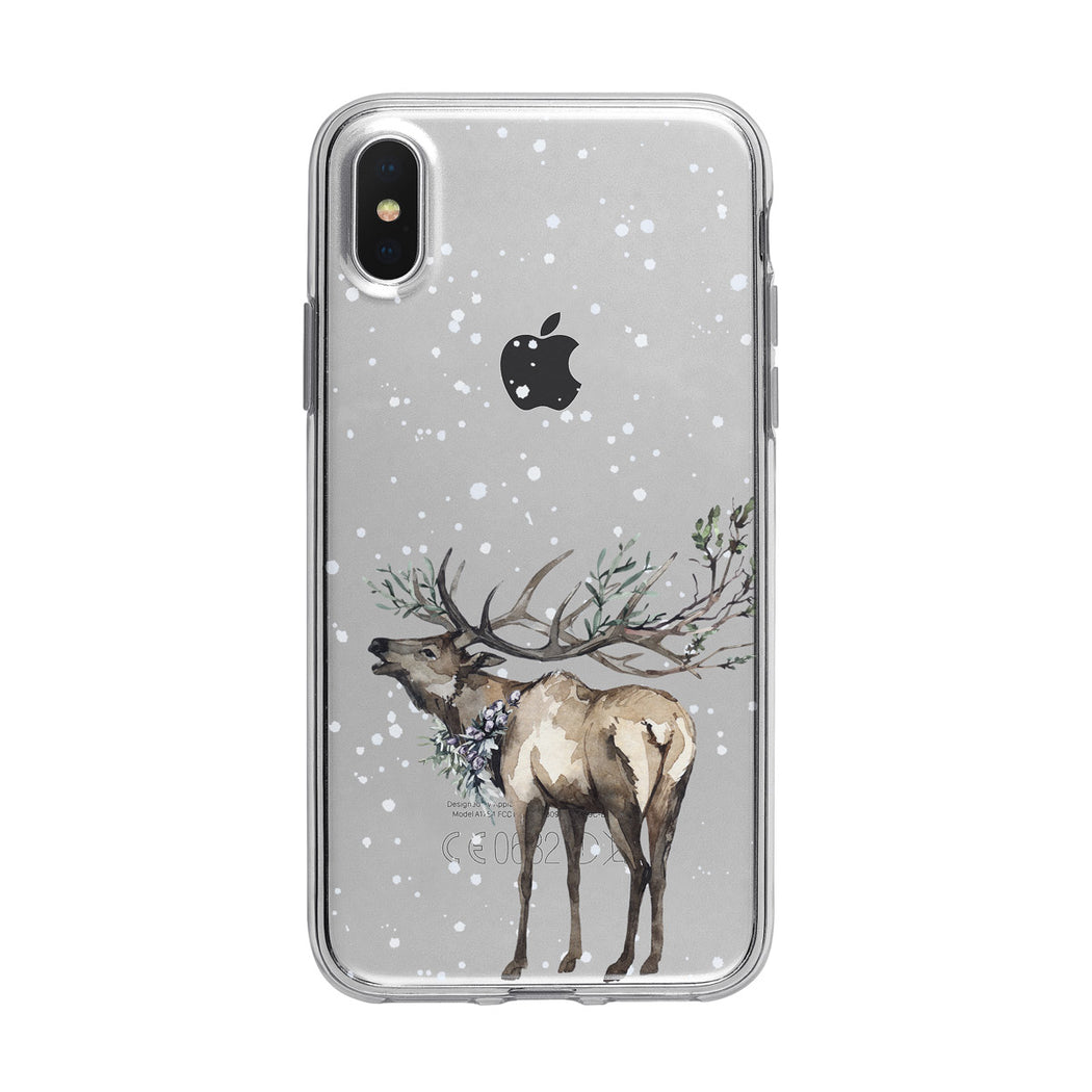 Majestic Snow Deer iPhone Case from Tiny Quail
