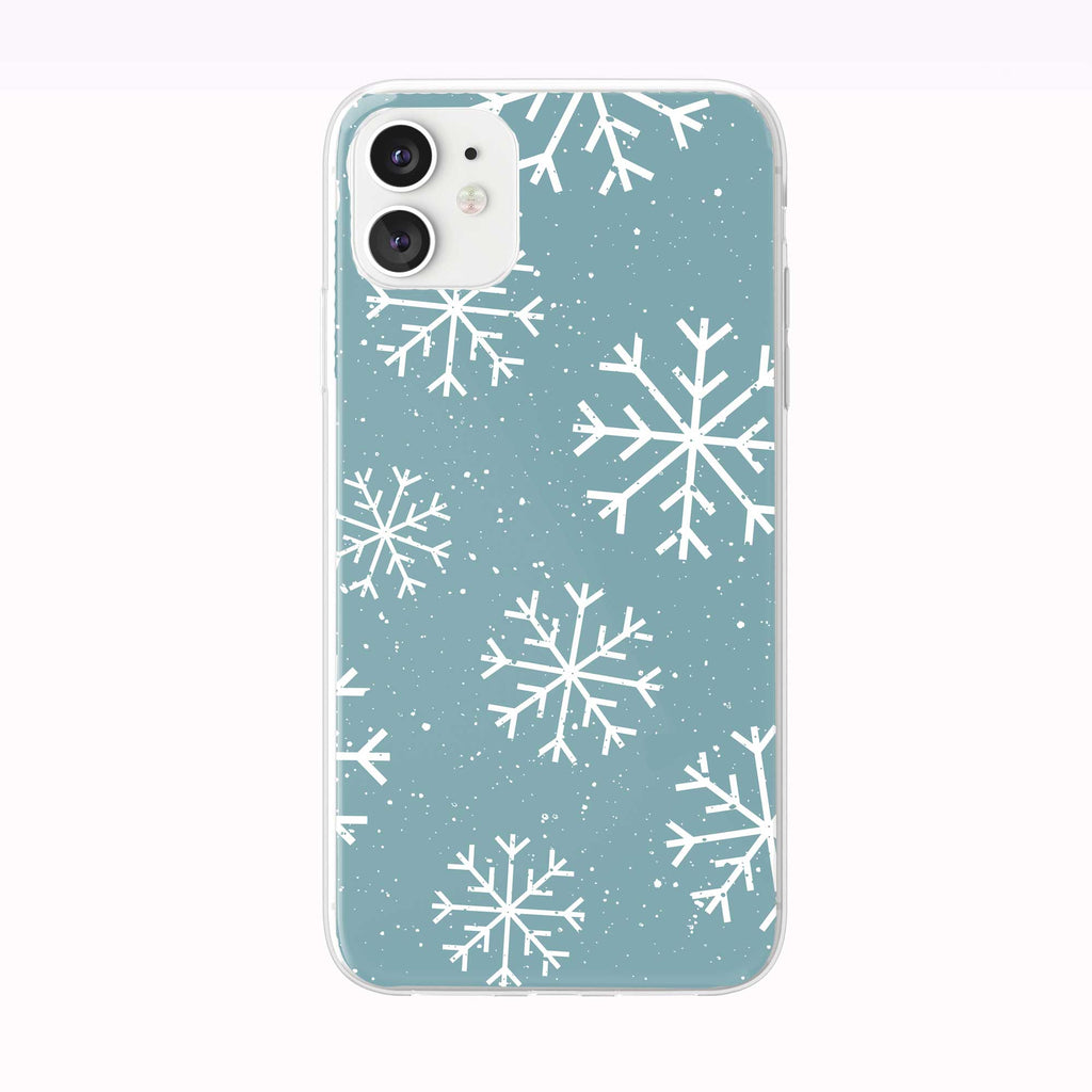 Winter Snowflakes Blue Pattern iPhone Case from Tiny Quail