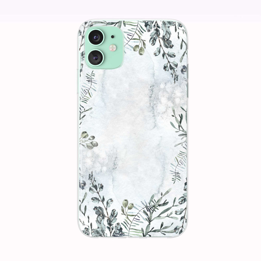 Snowy Winter Background iPhone Case from Tiny Quail