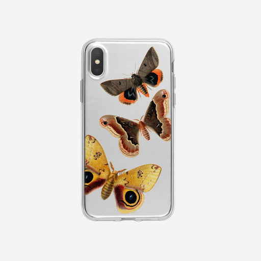 Colorful Soaring Moths Clear iPhone Case from Tiny Quail