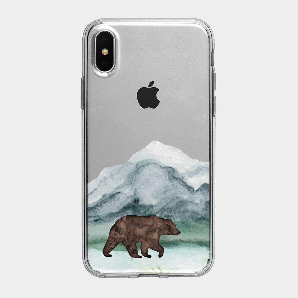 Mountain Grizzly Bear iPhone Case from Tiny Quail