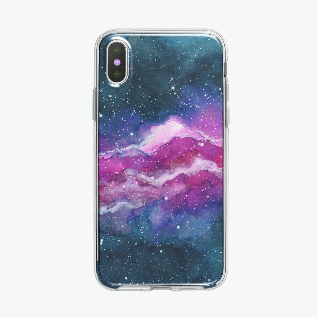 Space Cloud Nebula iPhone Case by Tiny Quail