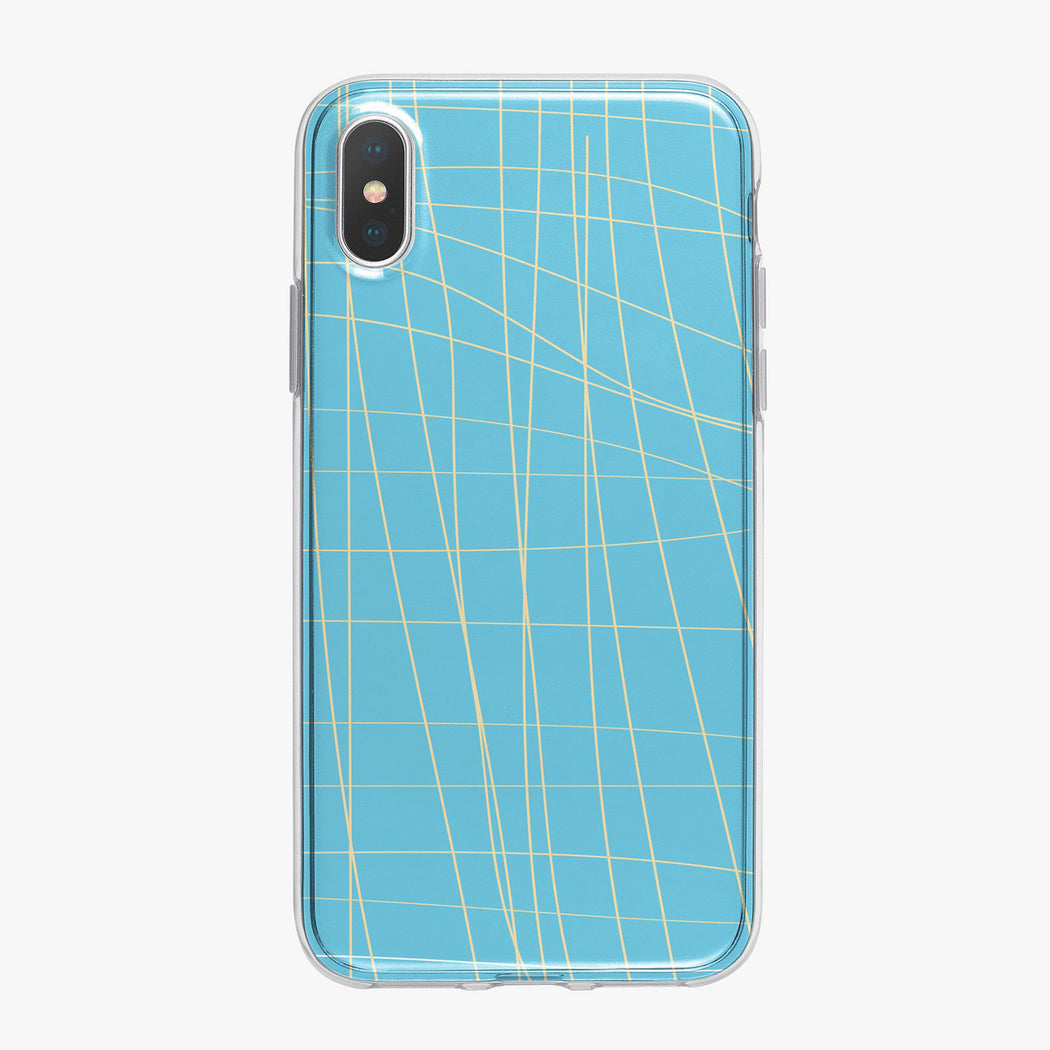 Lines On Blue Designer iPhone Case from Tiny Quail