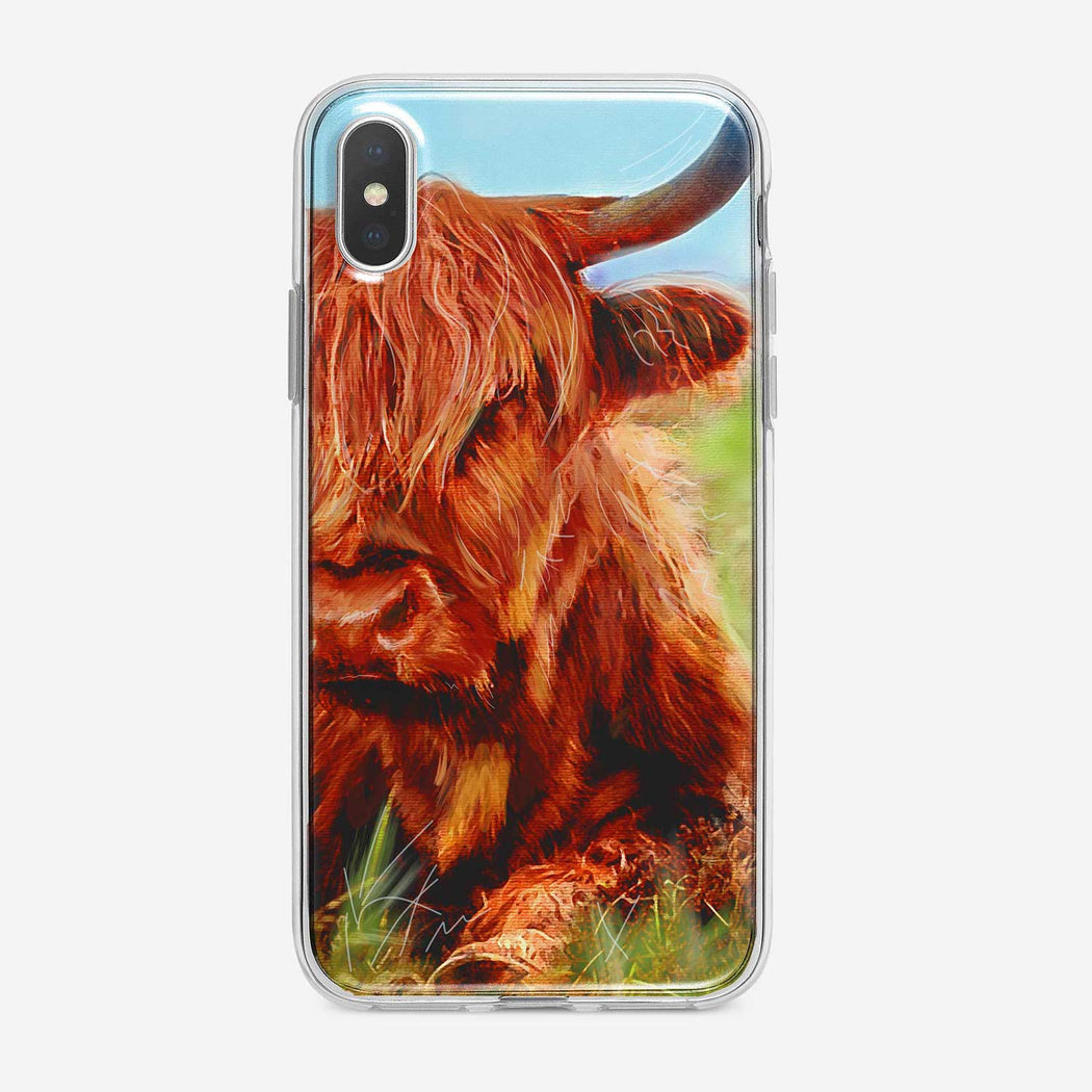 Red Steer iPhone Case by Tiny Quail