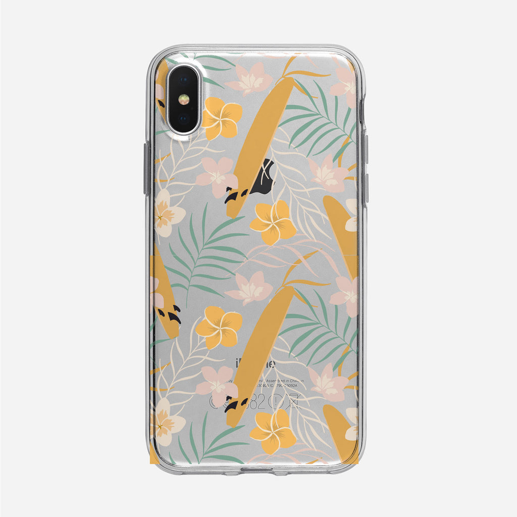 Subtle Tropical Pattern Clear iPhone Case from Tiny Quail