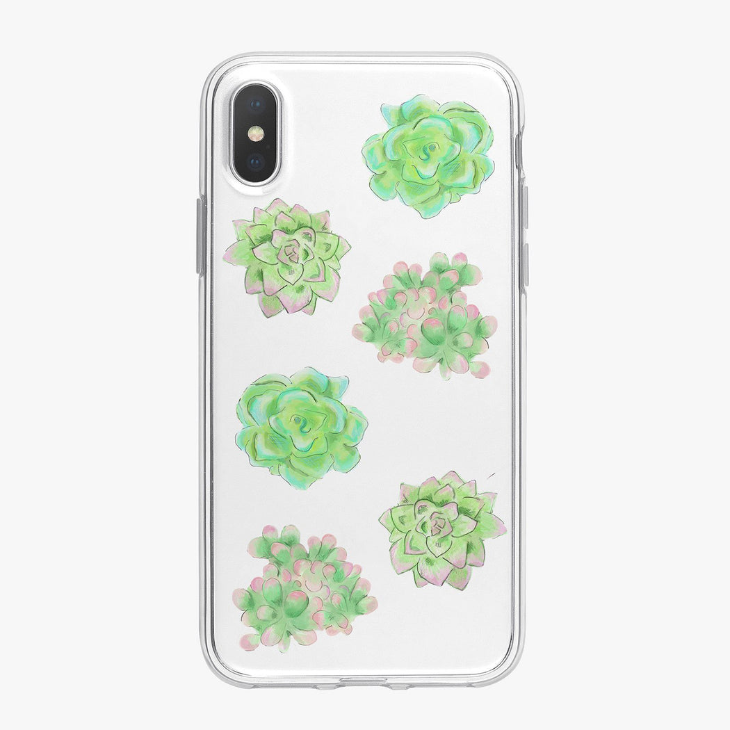Green Succulents Designer iPhone Case From Tiny Quail