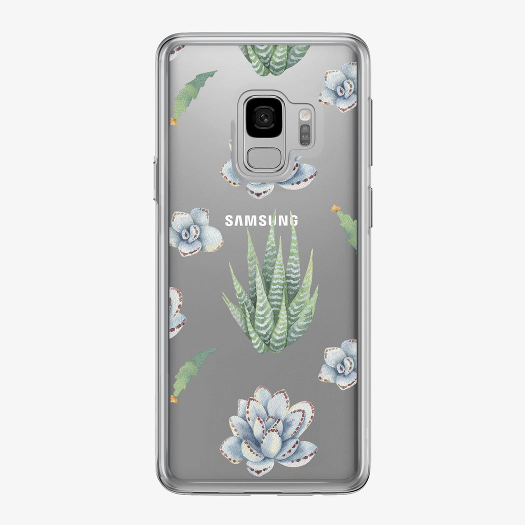 Succulents Pattern Samsung Galaxy Phone Case from Tiny Quail