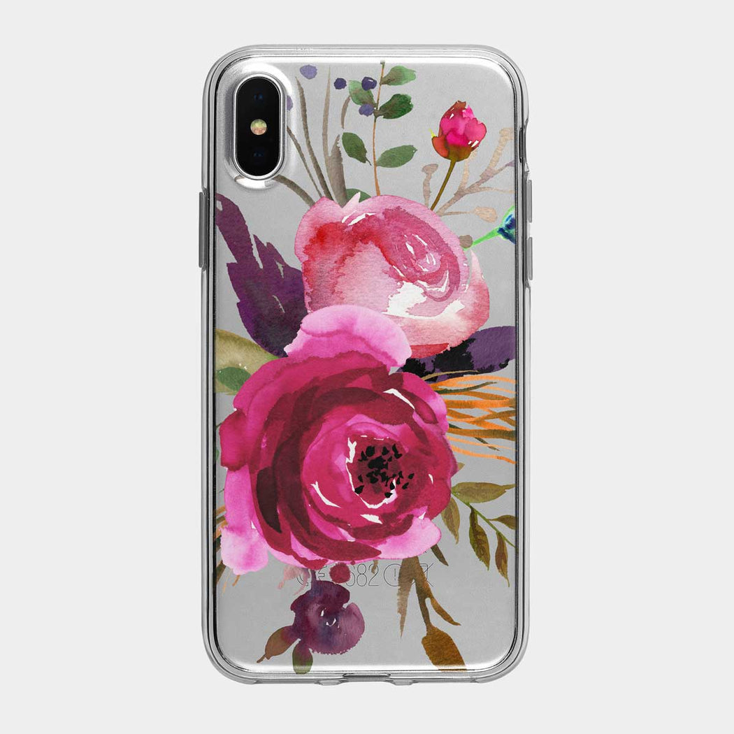 Summer Rose Clear iPhone Case from Tiny Quail