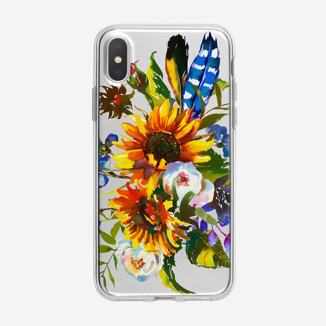 Lush Sunflower Bouquet Clear iPhone Case From Tiny Quail
