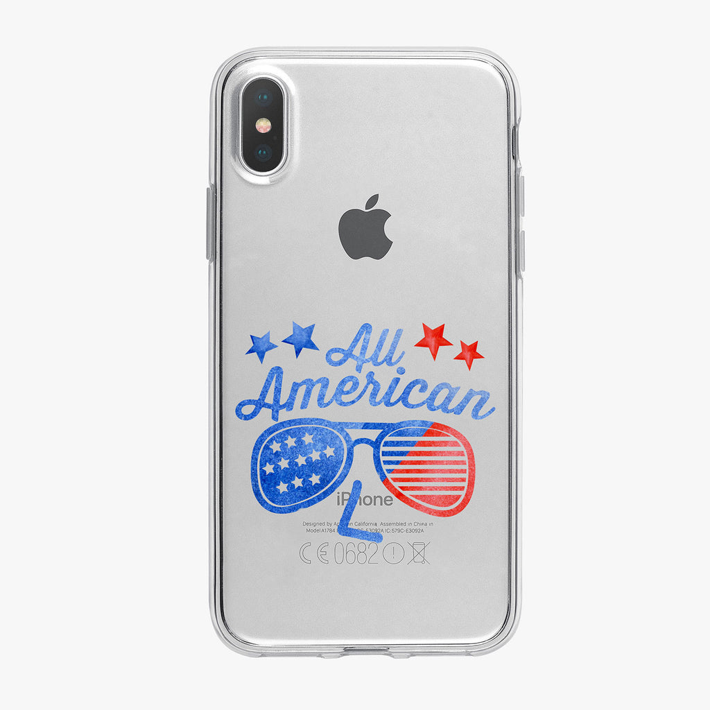 All American Sunglasses Clear iPhone Case by Tiny Quail