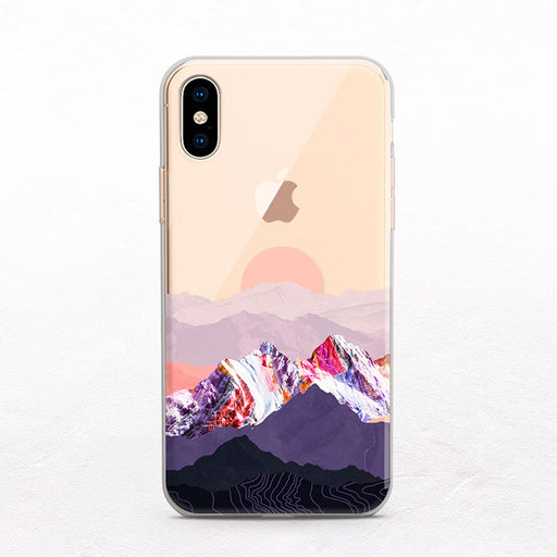 Mountain Sunset iPhone Case by Onesweetorange