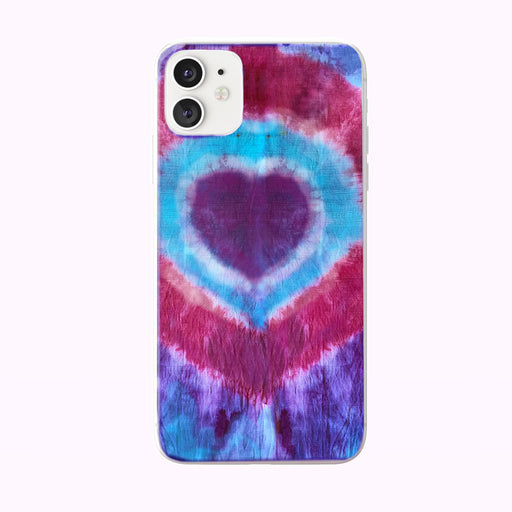 Tie Dye Hearts iPhone Case from Tiny Quail