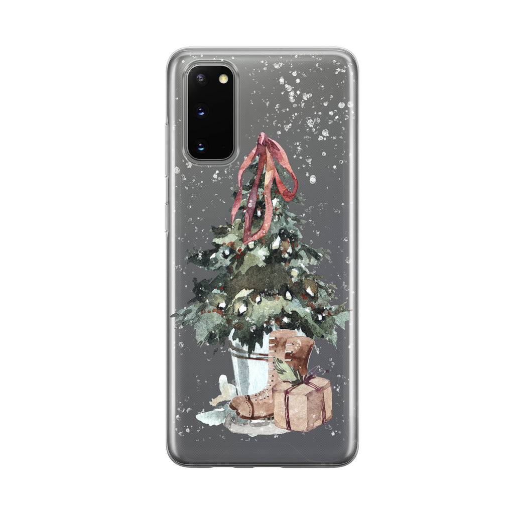 Christmas Tree Skates Samsung Galaxy Phone Case from Tiny Quail