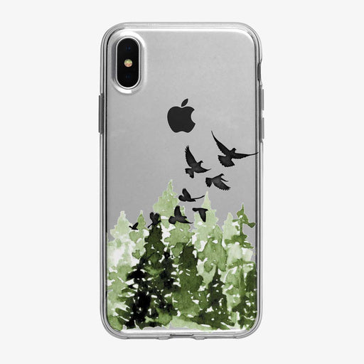 Flying Forest Birds iPhone Case from Tiny Quail