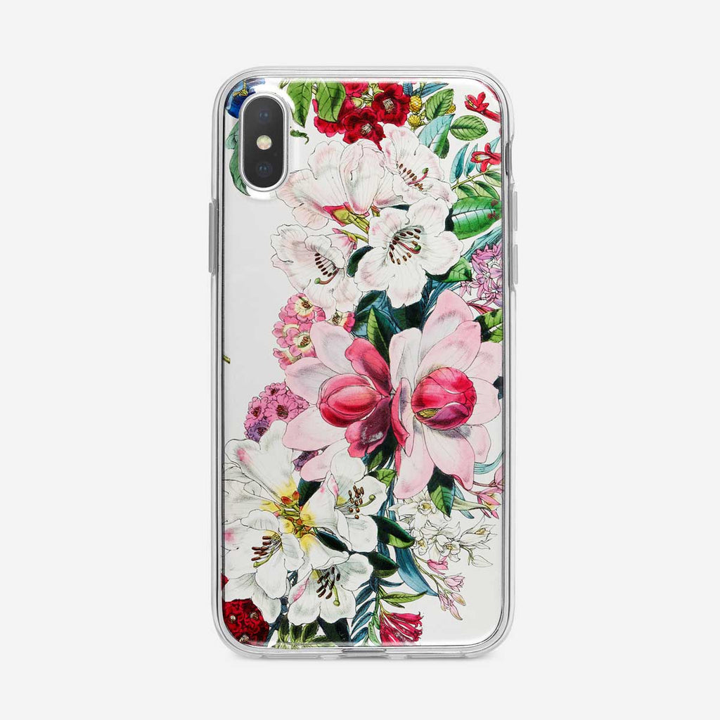 Tropical Botanical Flowers iPhone Case from Tiny Quail