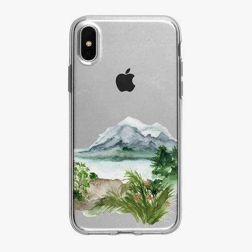 Tropical Mountain Lake iPhone Case from Tiny Quail