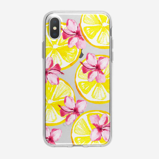 Tropical Floral Lemons Pattern iPhone Case from Tiny Quail