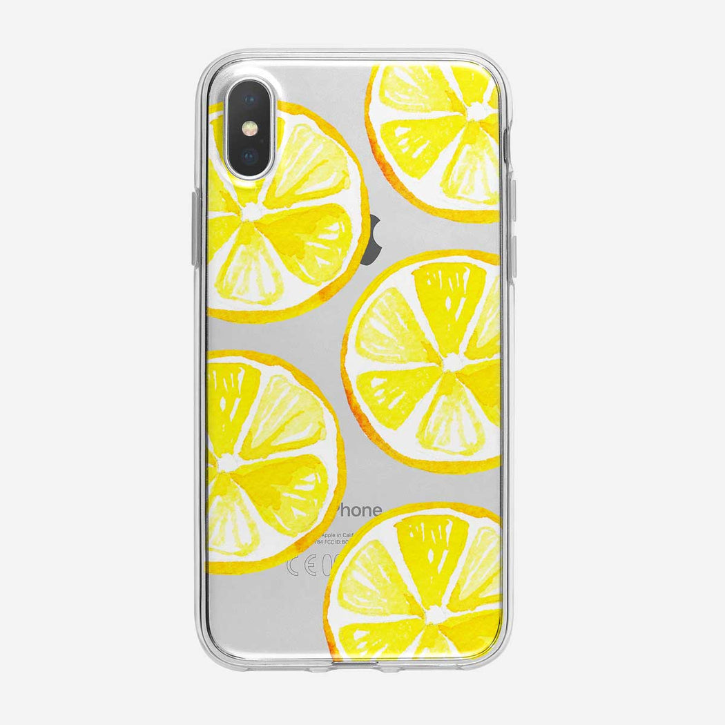 Large Tropical Lemons Pattern iPhone Case from Tiny Quail