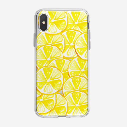 Tropical Lemons Explosion iPhone Case from Tiny Quail