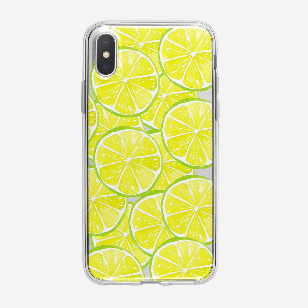 Tropical Limes Pattern iPhone Case from Tiny Quail