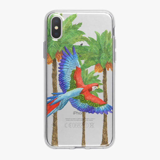 Watercolor Tropical Macaw iPhone Case from Tiny Quail