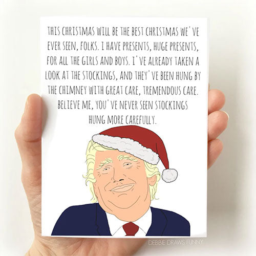 Trump Christmas Card - From Debbie Draws Funny