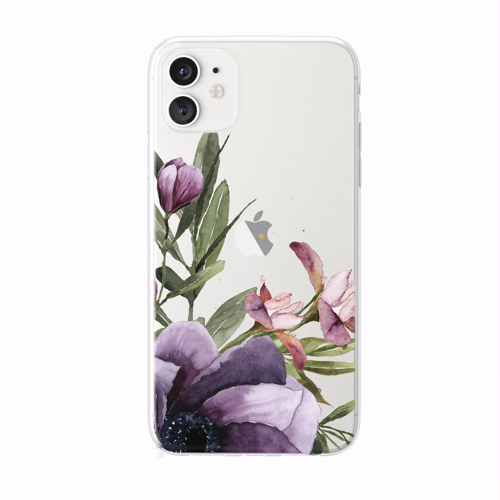 Corner Tulip Iris Floral iPhone Case from Tiny Quail