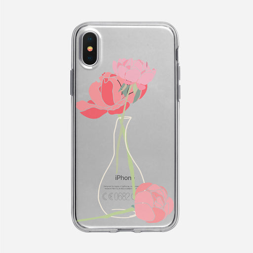 Pink Peonies in Vase iPhone Case from Tiny Quail