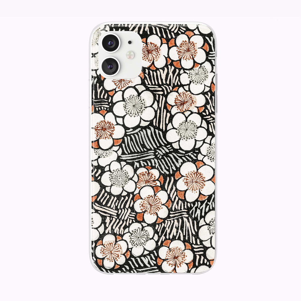Black and White Vintage Pattern iPhone Case from Tiny Quail