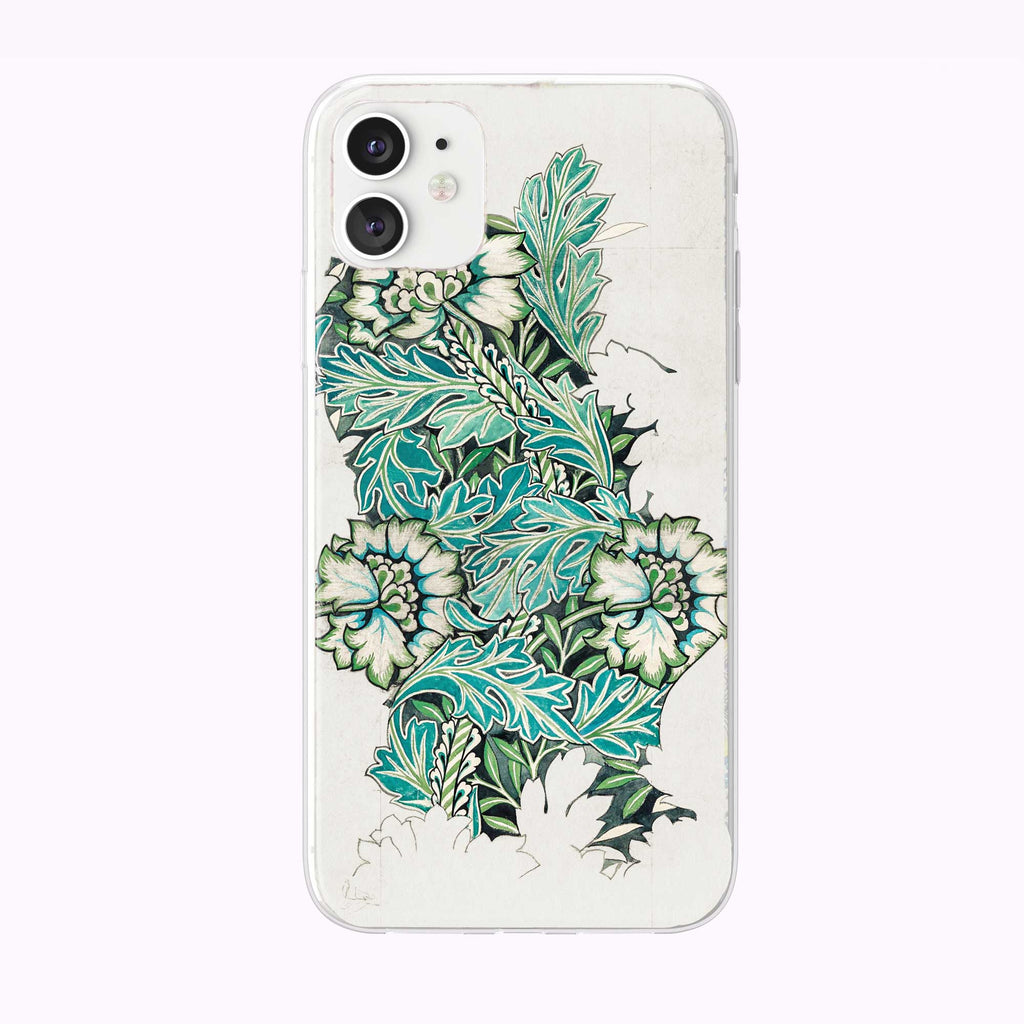 Anemone by William Morris iPhone Case from Tiny Quail